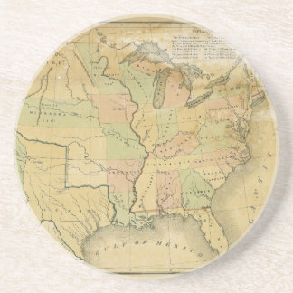 United States Including Western Territories 1848 Coasters