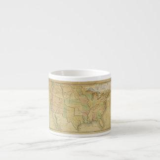 United States Including Western Territories 1848 Espresso Mug