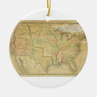 United States Including Western Territories 1848 Round Ceramic Decoration