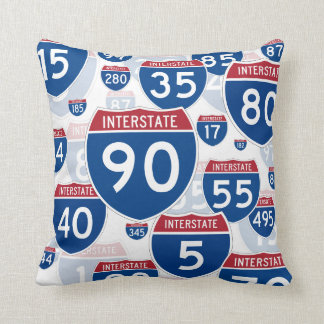 United States Interstate Highway Signs Cushion