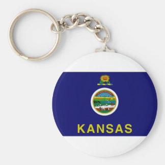 United States Kansas Flag Key Ring