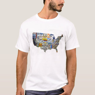 United States License Plate Map T-Shirt