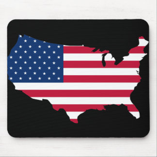 United States map and flag Mouse Pad