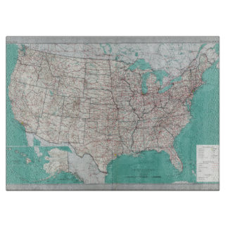 United States Map Cutting Board