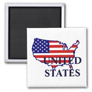 United States Map Flag Magnet