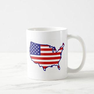United States Map Flag Mugs