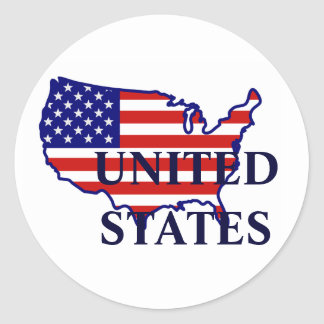 United States Map Flag Sticker