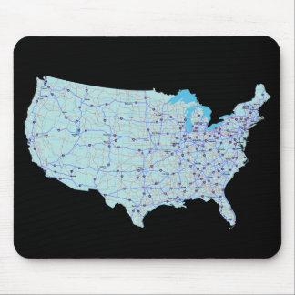 United States Map Mousepad