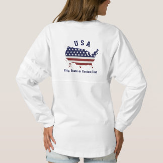 United States Map, Patriotic USA Flag, City State Spirit Jersey