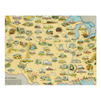 United States Map Postcard