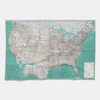 United States Map Tea Towel