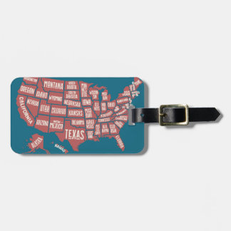 United States Map | Typography Luggage Tag