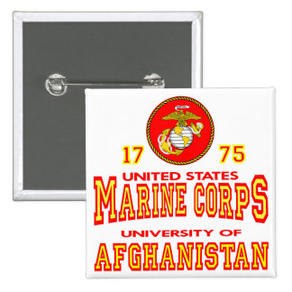 United States Marine Corps University Afghanistan Pinback Buttons