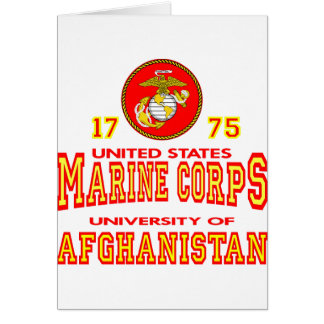 United States Marine Corps University Afghanistan Greeting Card