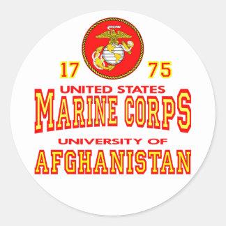 United States Marine Corps University Afghanistan Round Sticker