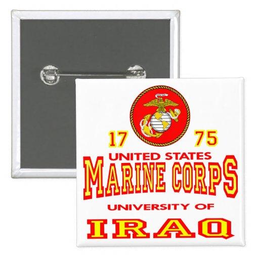 United States Marine Corps University Of Iraq Pinback Buttons