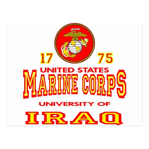 United States Marine Corps University Of Iraq Post Cards