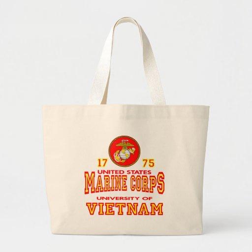 United States Marine Corps University Of Vietnam Canvas Bags