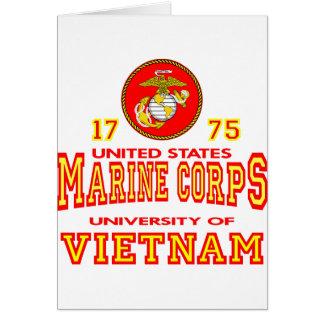 United States Marine Corps University Of Vietnam Greeting Card