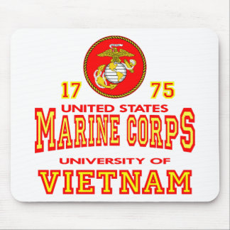 United States Marine Corps University Of Vietnam Mouse Pad