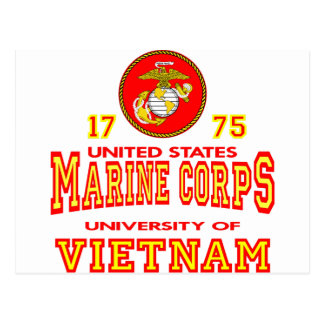 United States Marine Corps University Of Vietnam Postcard