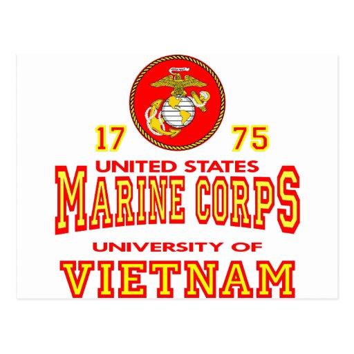 United States Marine Corps University Of Vietnam Postcard