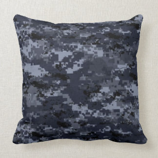 United States Military Blue Camouflage Pillow Throw Cushion