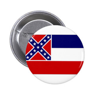 United States Mississippi Flag Pinback Buttons