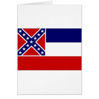 United States Mississippi Flag Greeting Card