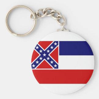 United States Mississippi Flag Keychain