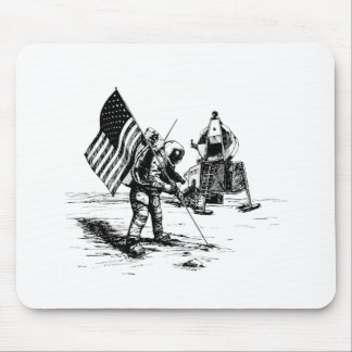 United States Moon Landing Mouse Pad