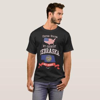 United States My Country Nebraska My Home T-Shirt