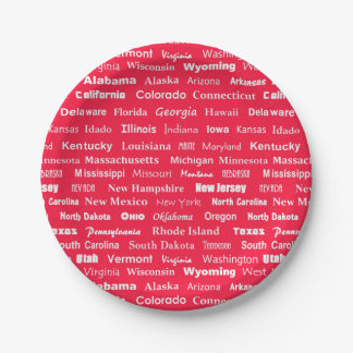 United States names paper plate 7 Inch Paper Plate