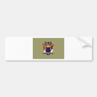 United States New Jersey Flag Bumper Stickers
