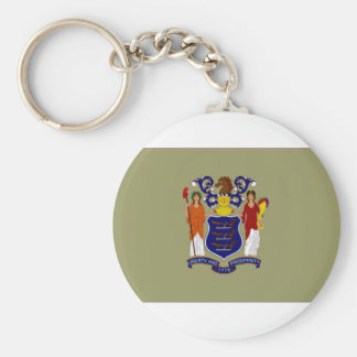 United States New Jersey Flag Keychain