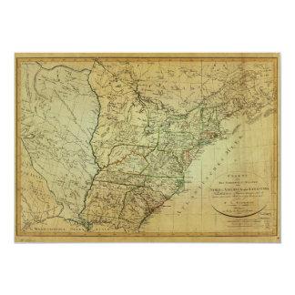 United States North America & Louisiana Map (1805) Card