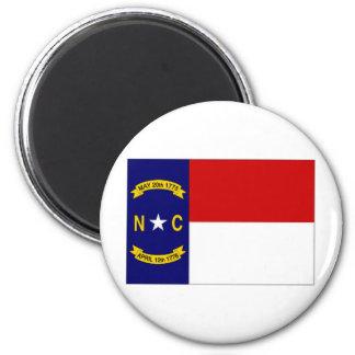 United States North Carolina Flag 6 Cm Round Magnet
