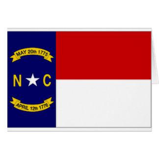 United States North Carolina Flag Greeting Cards
