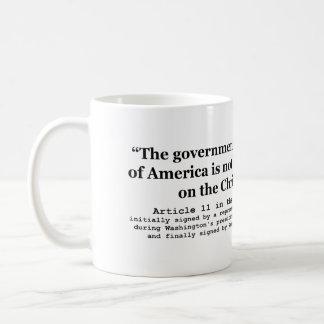 United States Not Founded on Christian Religion Coffee Mug