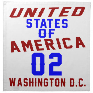 United States Of America 02 Washington D.C. Napkin