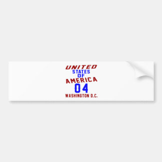 United States Of America 04 Washington D.C. Bumper Sticker