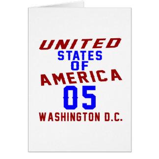 United States Of America 05 Washington D.C. Card