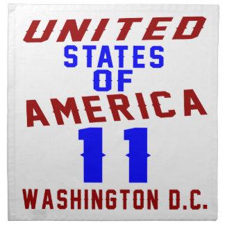 United States Of America 11 Washington D.C. Napkin