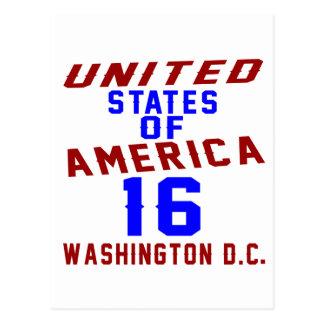 United States Of America 16 Washington D.C. Postcard
