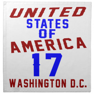 United States Of America 17 Washington D.C. Napkin
