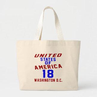 United States Of America 18 Washington D.C. Large Tote Bag