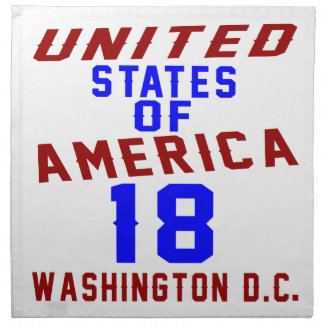 United States Of America 18 Washington D.C. Napkin