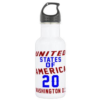 United States Of America 20 Washington D.C. 532 Ml Water Bottle