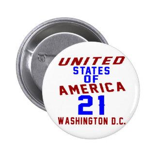 United States Of America 21 Washington D.C. 6 Cm Round Badge