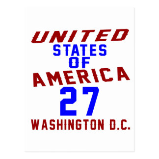 United States Of America 27 Washington D.C. Postcard